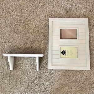 Shiplap collage frame and ledge bundle